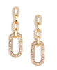 Pavé Crystal Link Drop Earring