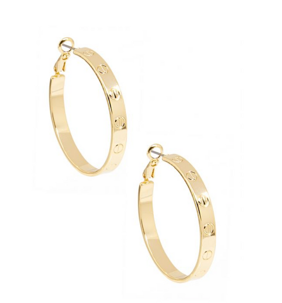 Small Bolted Hoop Earring Jewelry