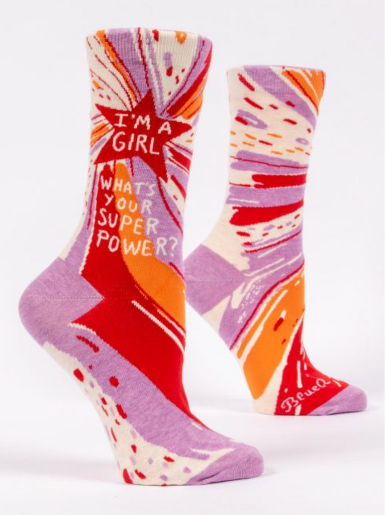 Crew Socks - I'm A Girl, What's Your Superpower?
