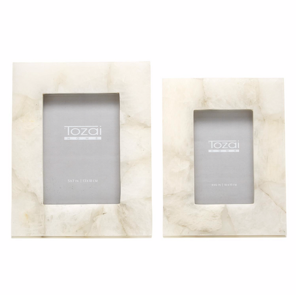 White Quartz Photo Frame