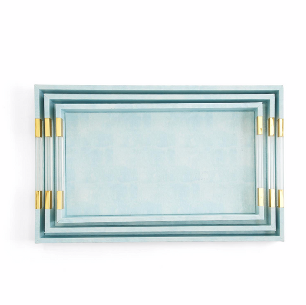 Aqua Rectangle Tray