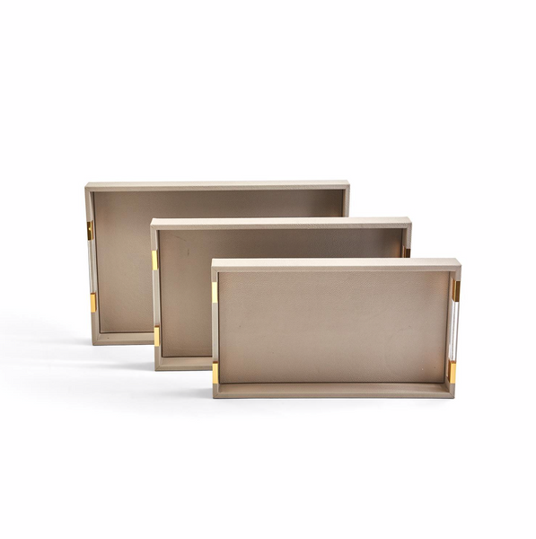 Taupe Rectangle Tray