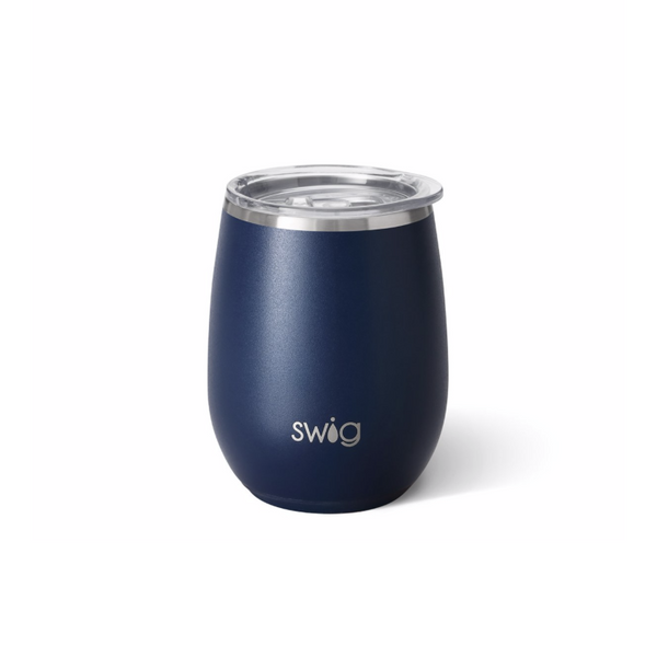 14 oz Stemless Wine Cup - Matte Navy