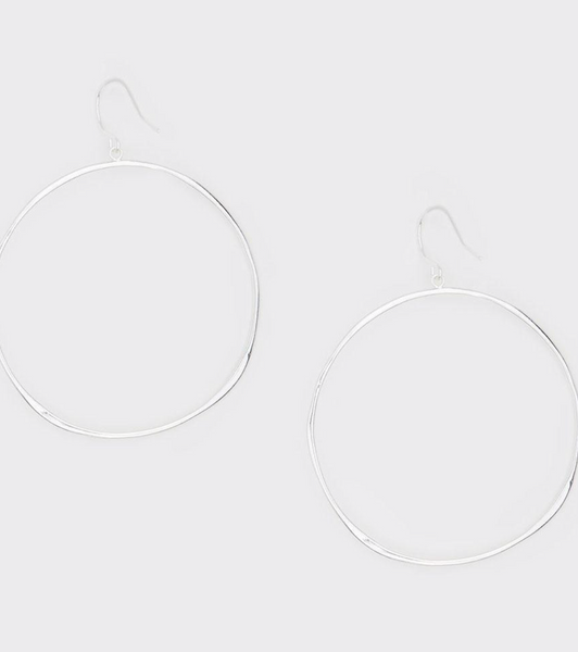 G Ring Earrings - Silver