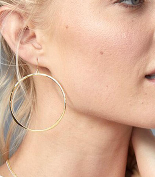 G Ring Earrings - Gold