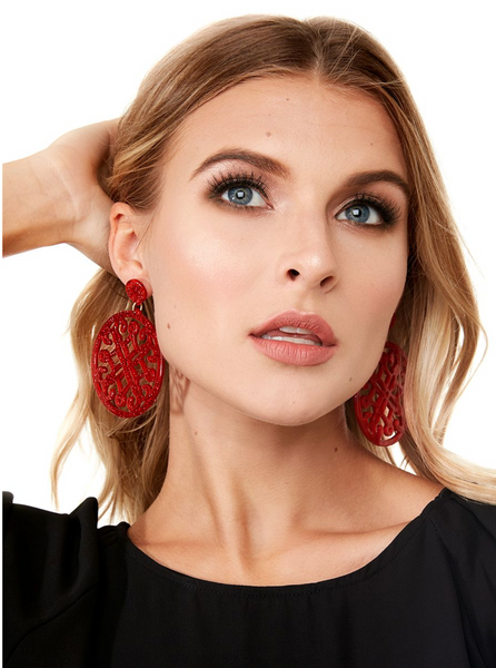 Statement Circle Drop Earring