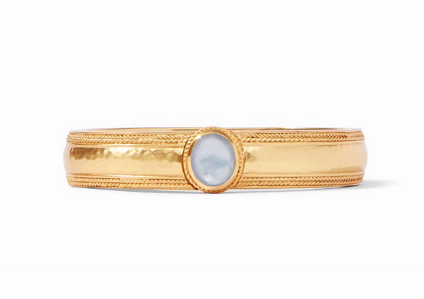 Coin Hinge Bangle - Ice Blue
