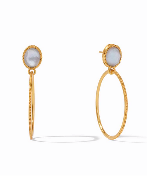 Verona Statement Earring - Ice Blue