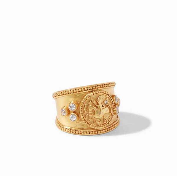 Coin Crest Ring