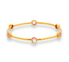 Milano 6-Stone Bangle -  Clear Rose