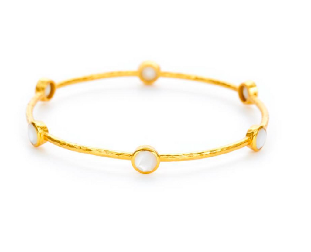 Milano 6-Stone Bangle - Mother of Pearl
