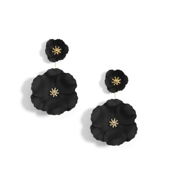 Flower Power Earring - Black