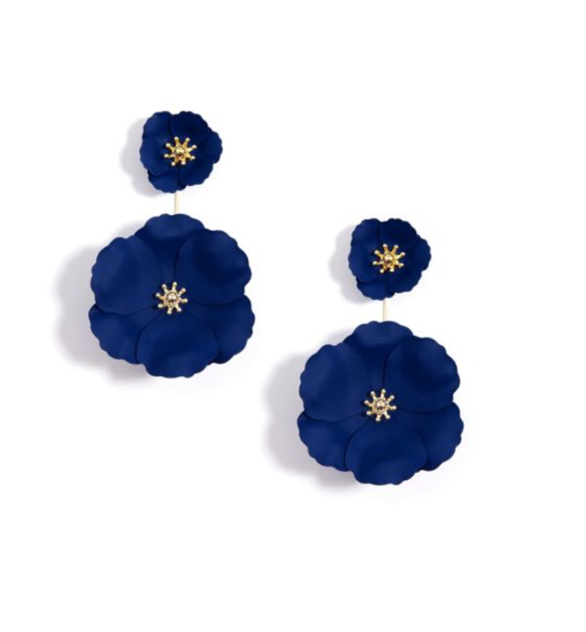 Flower Power Earring - Navy