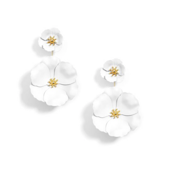 Flower Power Earring - White