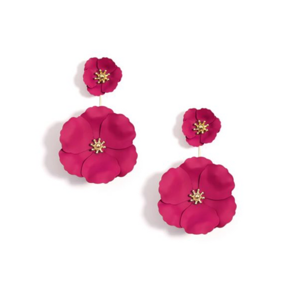 Flower Power Earring - Neon Pink