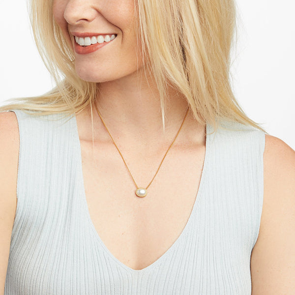 Verona Solitaire Necklace - Clear Crystal