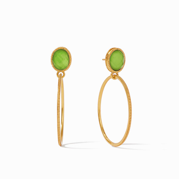 Verona Statement Earring - Jade Green