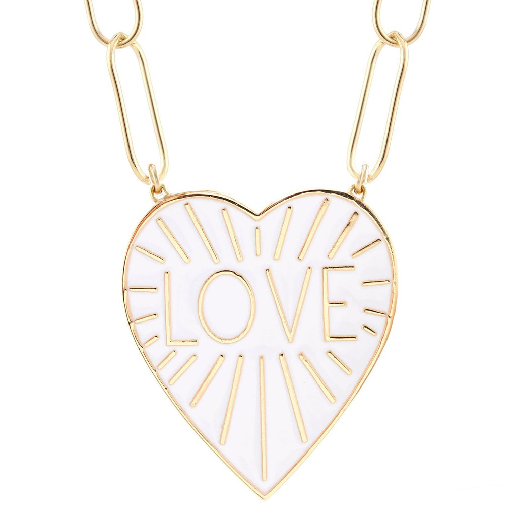 Love Heart Enamel Pendant