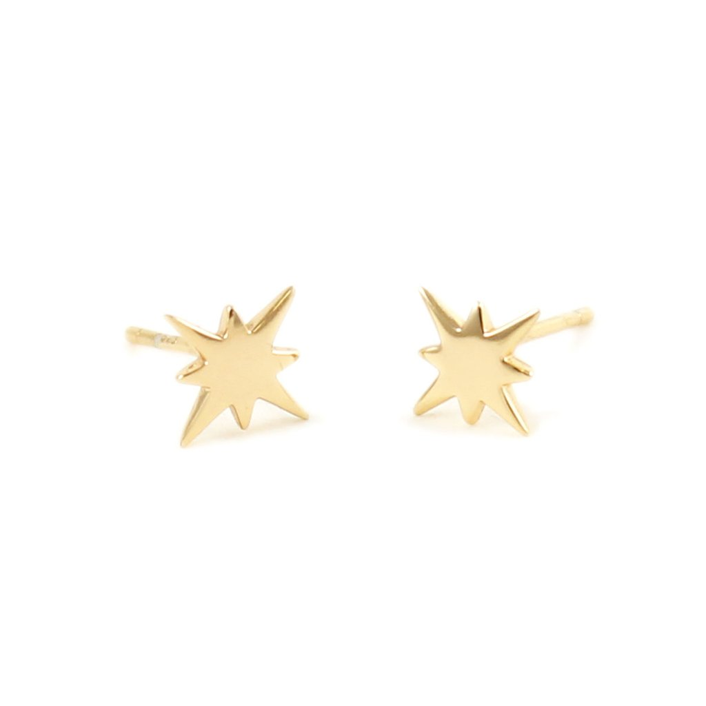Starburst Stud Earrings - Gold