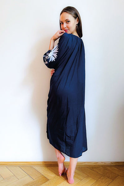 Malan Maxi Tunic - Navy/White
