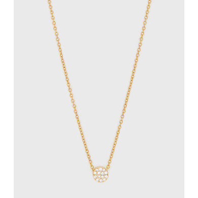 Pristine Shimmer Charm Adjustable Necklace - Gold
