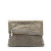 VIP Clutch - Pewter with Brushed Silver Hardware