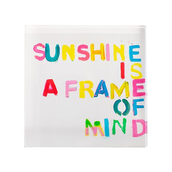 Sunshine is a Frame of Mind Block 4x4
