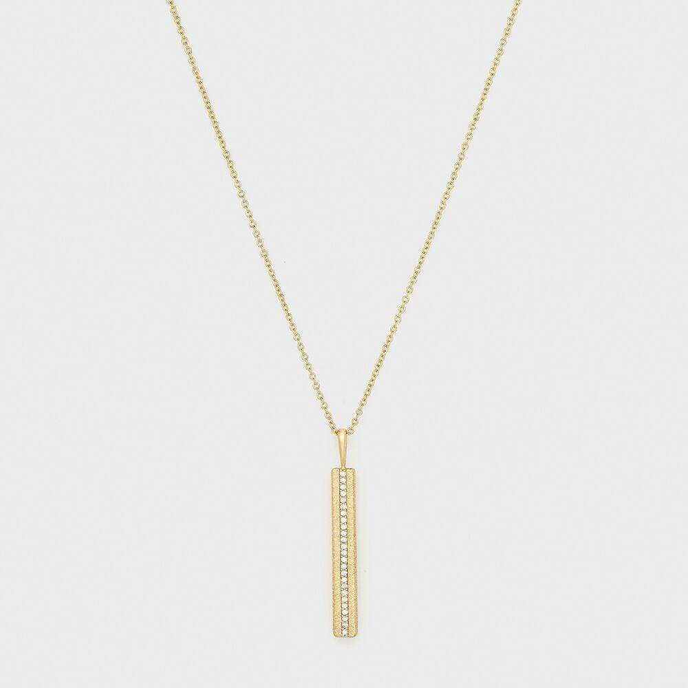 Nia Shimmer Bar Pendant Necklace