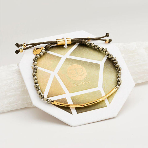 Gold Power Bracelet - Strength
