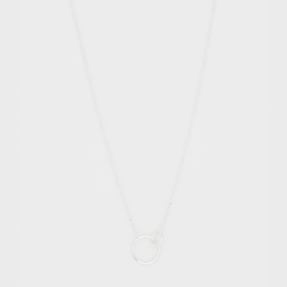 Wilshire Charm Adjustable Necklace Silver