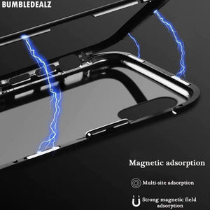 magnetic adsorption black colour magnetic iphone case online