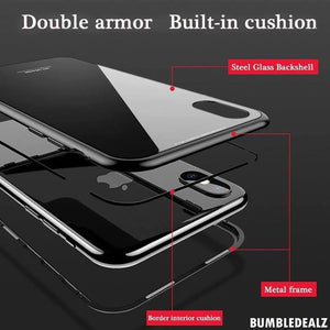 Buy double armour magnetic iphone case in black