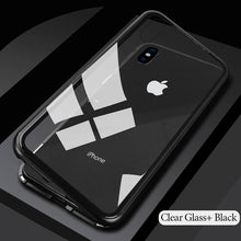 Black magnetic iphone case for iphone6, 6s, 6 plus, 6s plus, iphone 7, iphone 8, iphone X