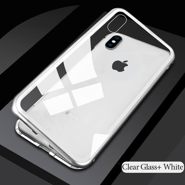 White magnetic iphone case for iphone6, 6s, 6 plus, 6s plus, iphone 7, iphone 8, iphone X