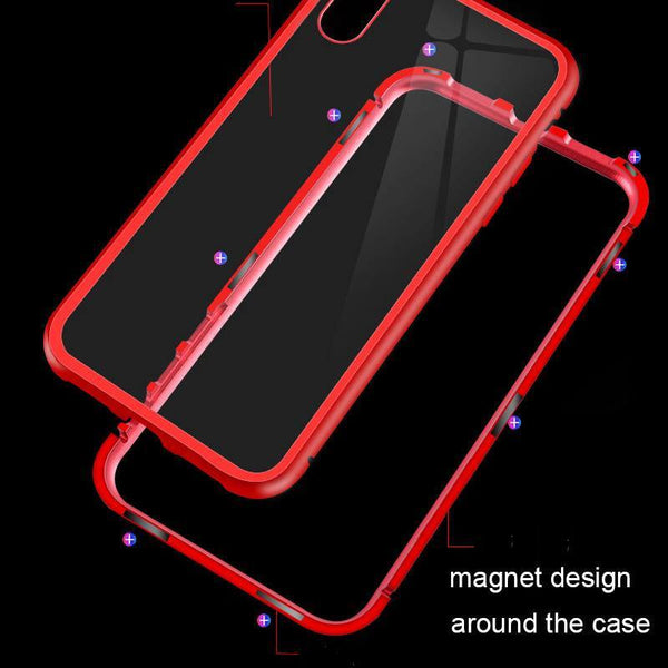 Red magnetic iphone case for iphone6, 6s, 6 plus, 6s plus, iphone 7, iphone 8, iphone X