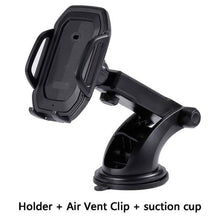 Infrared car mobile charger with 360 degree rotating holder mount