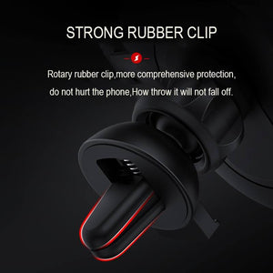 Qi wireless car charger with strong rubber clip
