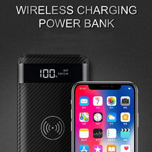 Wireless powerbank front view with dispaly