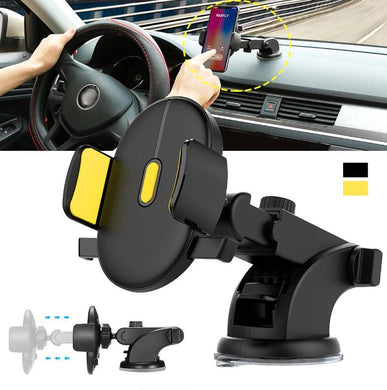 Adjustable Yellow Automatic Locking Phone Holder