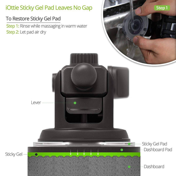 Universal Car Phone Holder Reusable Suction Cup