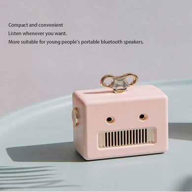 Mini Robot Bluetooth Speaker Pink