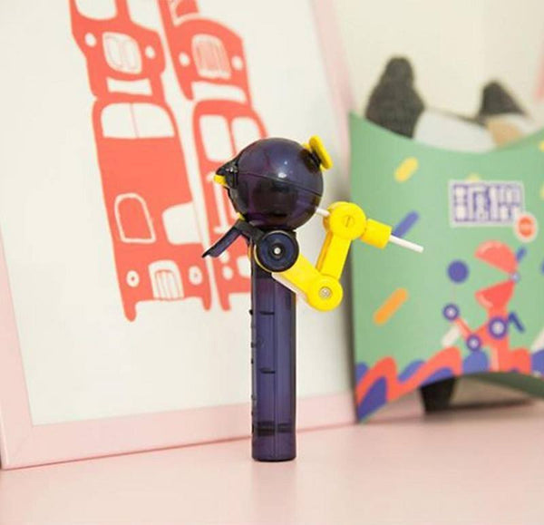 Creative Robot Lollipop Holder Yellow
