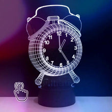 3D LED Clock Night Light Safe To Touch