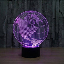 3D LED Tellurion Night Light Purple