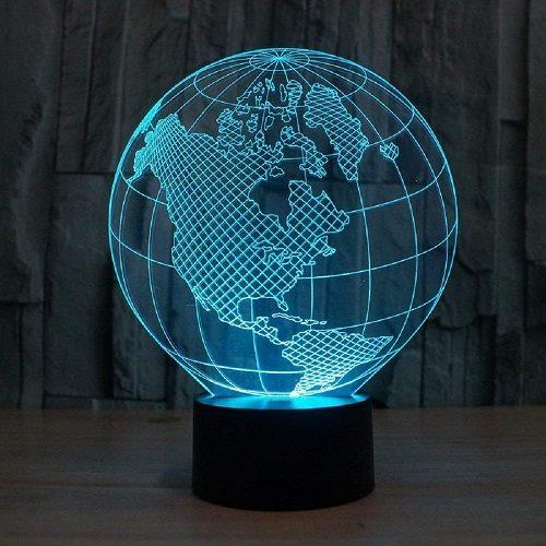 3D LED Tellurion Night Light Cyan