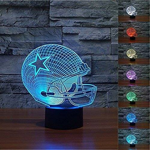 3D LED Rugby Night Light 7 Colors