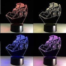 3D LED Bulldozer Night Light Multi Colors