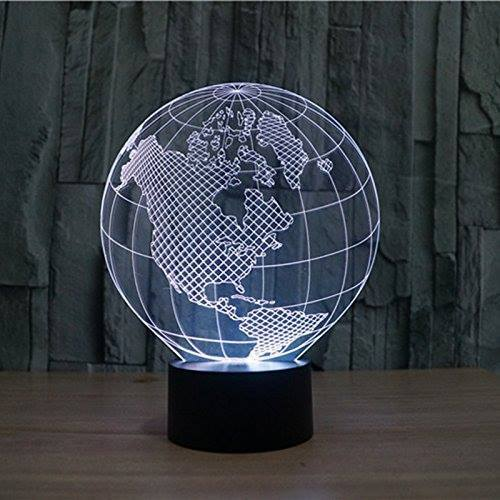 3D LED Tellurion Night Light White