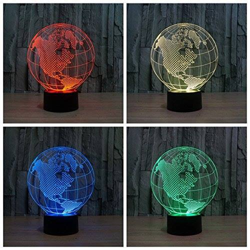 3D LED Tellurion Night Light Different Colors
