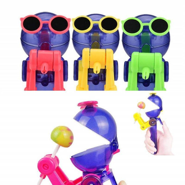 Robot Lollipop Holder Creative Safe Kids Toy